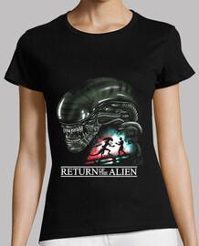 retorno de las mujeres camisa extranjera