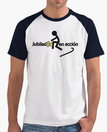 Tee-shirt retraite en action