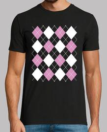 retro argyle rhombus vintage rockabilly rock and roll 50s 1960s 1970s t-shirt