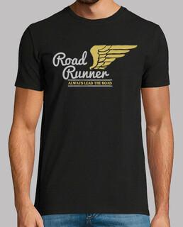 retro biker t shirt vintage motorcycle bikers road runner