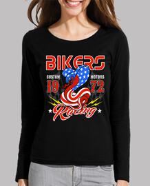 retro bikers 1972 custom motorcycle 70s usa 1970s t-shirt
