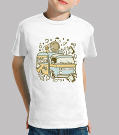 retro cartoon caravan coffee t-shirt