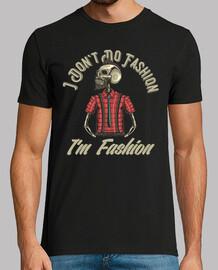 retro hipsters skull retro fashion rock t-shirt