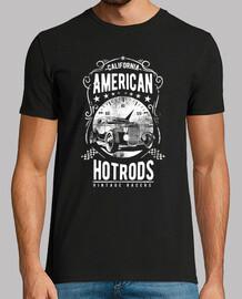 retro hotrod vintage california usa t shirt