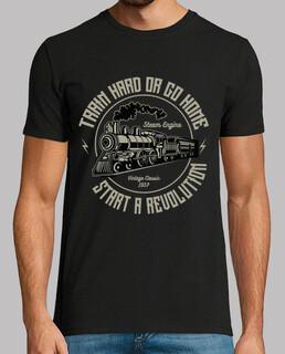 retro lokomotivent t-shirt vintage