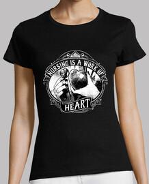 retro nursing t shirt is a work of heart vintage nursing