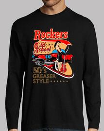 rétro pin up t-shirt rockabilly rockers vintage rock and roll USA graisseur des années 1950