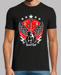 retro rock t-shirt gitarrenflügel vintage rockabilly musik rock'n'roll rocker