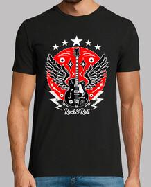 rétro rock t-shirt guitare ailes vintage rockabilly musique rock n roll rockers