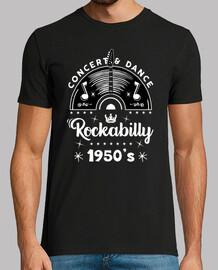 retro rockabilly music 1950s rock and roll usa rockers t shirt
