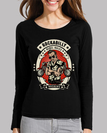 retro rockabilly music rockers vintage bikers usa rock and roll t-shirt