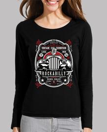 retro rocker t-shirt hotrod rockabilly music rockers vintage usa rock and roll