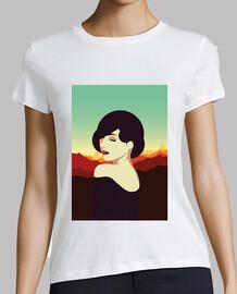 retro shirt girls vintage art deco style women