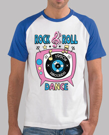 retro t shirt 1950s rock and roll dance party sock hop rockabilly music vintage 50s usa