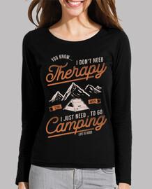 retro t shirt girl camping camp mountains nature