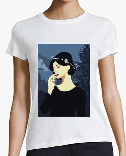 Retro t shirt girls vintage art deco women t-shirt
