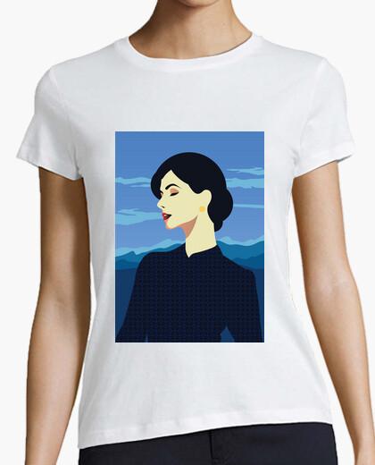Retro t shirt girls vintage art style women artistic t-shirt