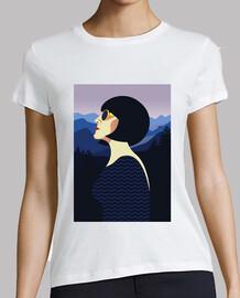 retro t shirt girls vintage art women