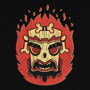 Retro Uka Mask T-shirts