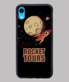 retro vintage space rocket