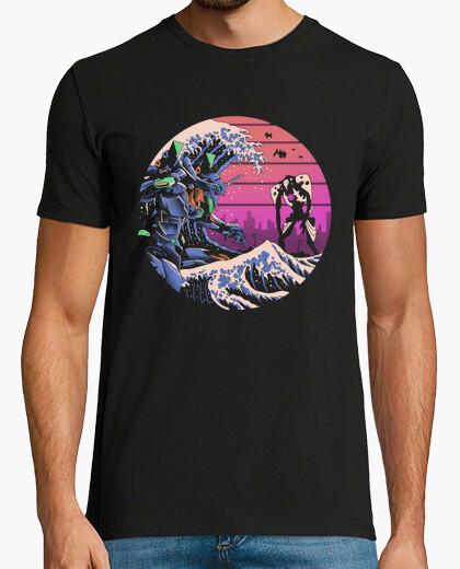 Camiseta retro wave eva shirt hombre