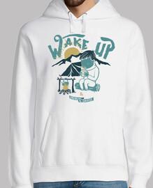 réveille-toi et bois un café