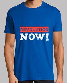 Revolution jetzt (weiß)