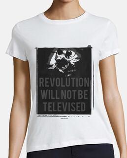 Revolution Will Not Be Televised (Mujer, manga corta, blanco, calidad extra)