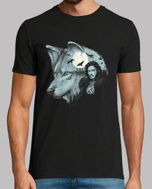 rey de direwolves camisa para hombre
