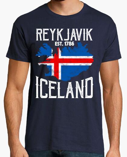 Camiseta Reykjavik Islandia Vikingos