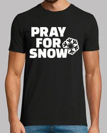 reza por la nieve