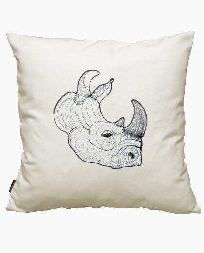 Housse de coussin rhinocéros