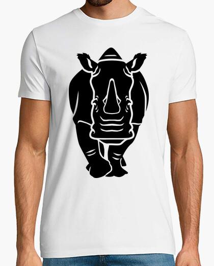 Tee-shirt rhinocéros noir