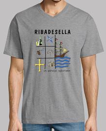 Ribadesella - Camiseta cuello de pico clásico