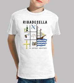 Ribadesella - Camiseta para niño de manga corta