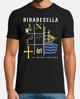 ribadesella dark background - short sleeve t-shirt