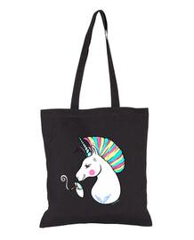 ribelle unicorno per sfondo nero