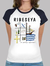 ribeseya - baseball type girl t-shirt