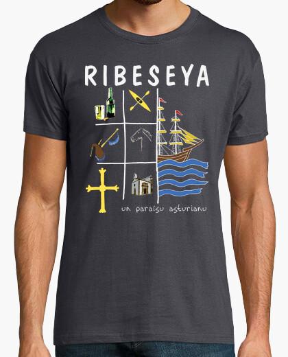 Ribeseya fondo oscuro - Camiseta de manga corta