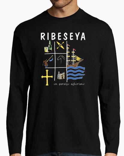 Ribeseya fondo oscuro - Camiseta de manga larga