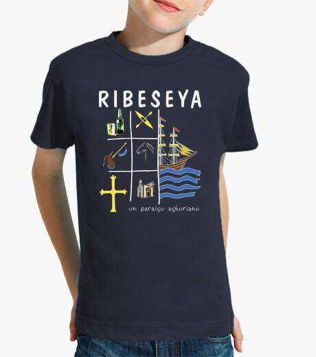 Ropa infantil Ribeseya fondo oscuro - Camiseta para niño de manga corta