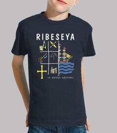 Ribeseya fondo oscuro - Camiseta para niño de manga corta