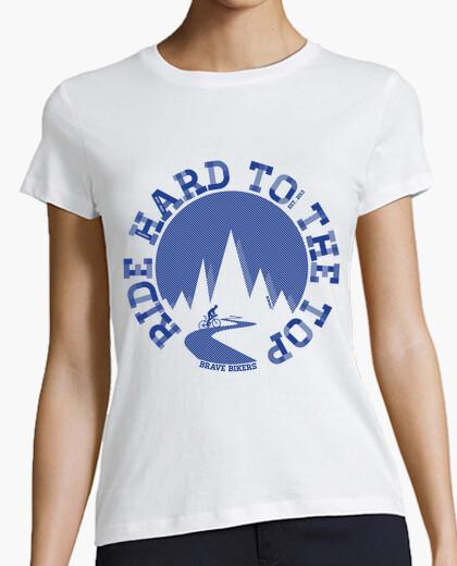 Camiseta Ride Hard To The Top Woman
