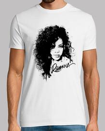 Rihanna Silueta de Tinta V2