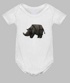 rinoceronte negro niño t