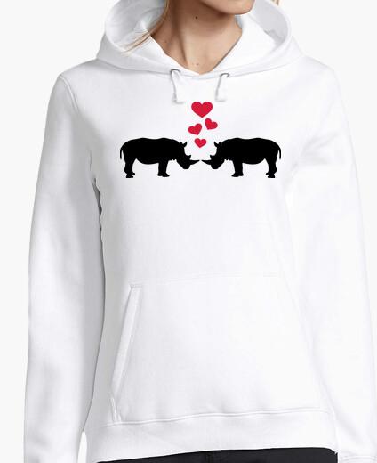 Jersey rinocerontes corazones rojos amor