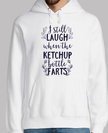 rire encore quand la bouteille de ketch
