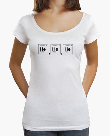 Tee-shirt rire scientifique hélium