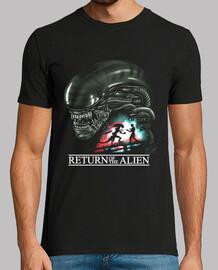 ritorno della camicia da uomo alieni