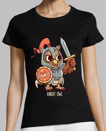ritter eule tier wortspiel shirt - womans shirt